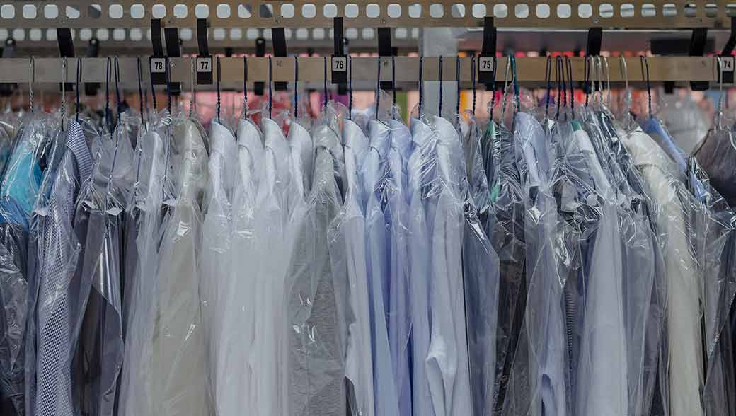 Dry cleaned clothing